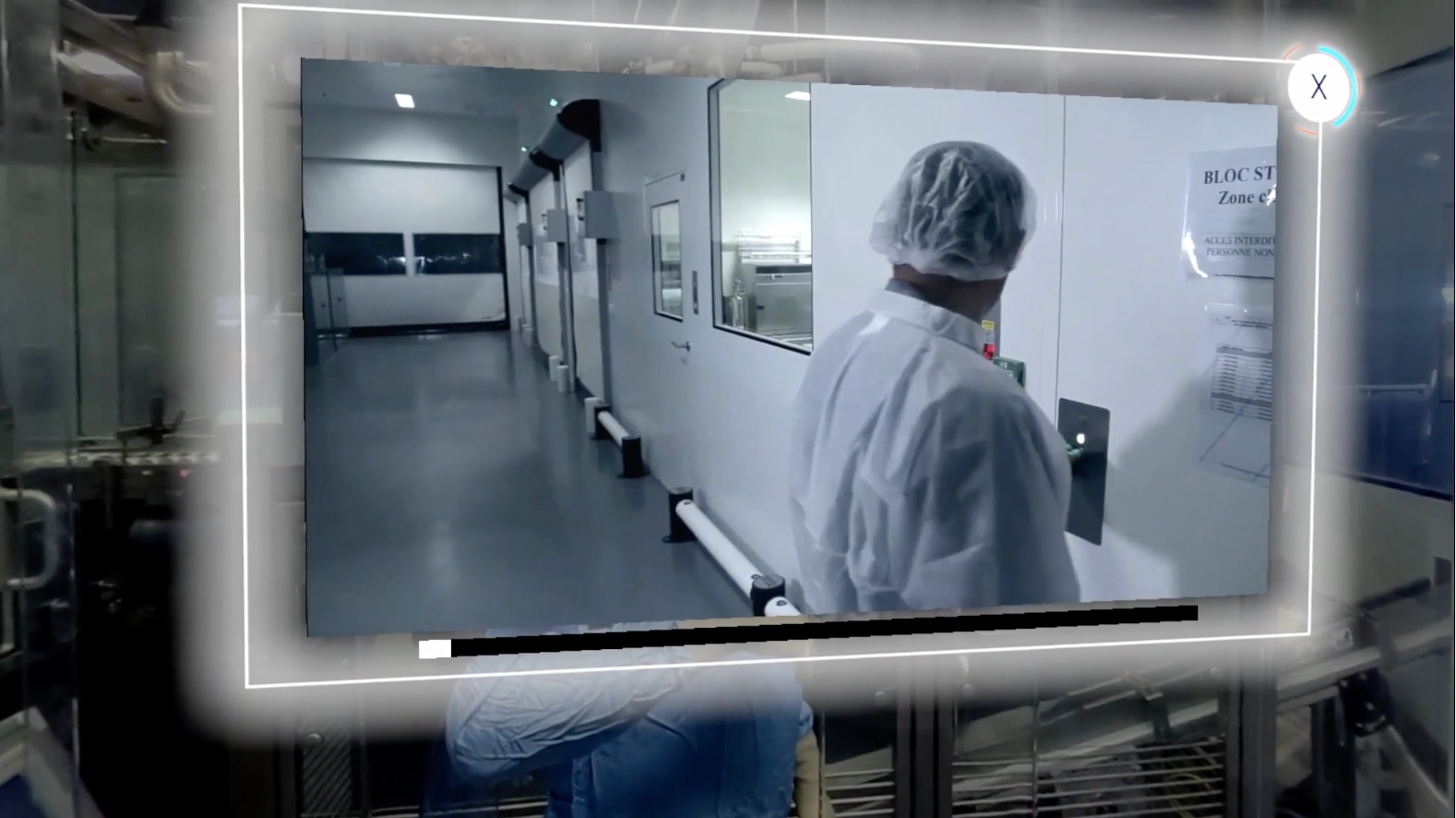 Application en réalité virtuelle pour visiter un laboratoire Pierre Fabre